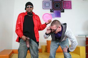 Eminent black schlong drills around a horny gay guy