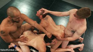 Four hot studs battle it out for extreme sexual domination.