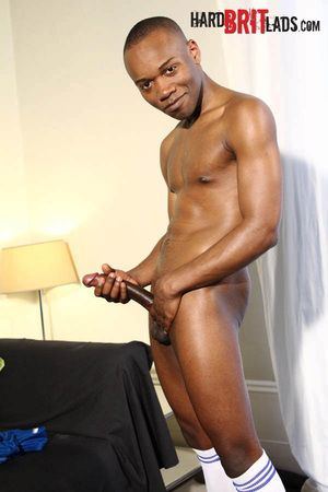 Cute and athletic 22-year-old black straight young man Anton Thomson chats everywhere us first. He then strips on touching to his shorts, oils about his fit body, and pulls out a whopping 9.5-inch uncut cock. Rubbing plenty of lube on it, Anton gets rock