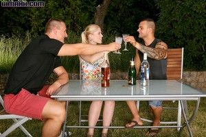 Bisexual orgy outdoors from bimaxx