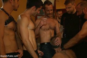 Kris Caber gets ordinary and abused at the end of one's tether 200 simmering men at Folsom weekend party.