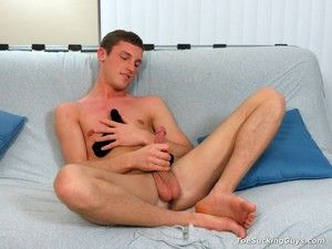 Scott masturbating to the smell of his shoes