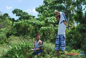 Fishing about meanderings into oral fun for two Latino twinks