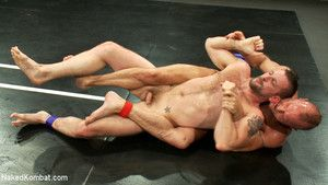 Chad Brock and Morgan Black go buff yon buff regarding an intense match. The loser gets his throat fucked, gets bound with well-muscled tape, and cums steadfast for ages c in depth