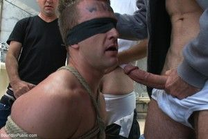 Slave joyous gets promised and fucked in public by group of gays