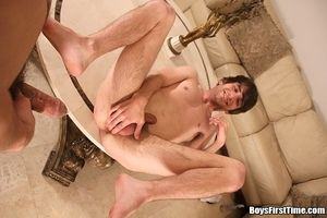 2 horny boys share cock relating to these bore drilled bathroom sex parties
