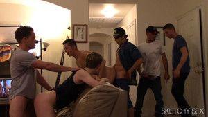 Roommates gang bang like crazy