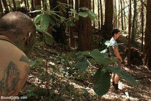 Madman Ricky Sinz torments Tyler Alexander and Morgan Felonious deep in the woods.