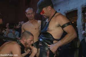 Jordan Raise up gets gang fucked and covered down cum for our Pre-Dore Alley Party
