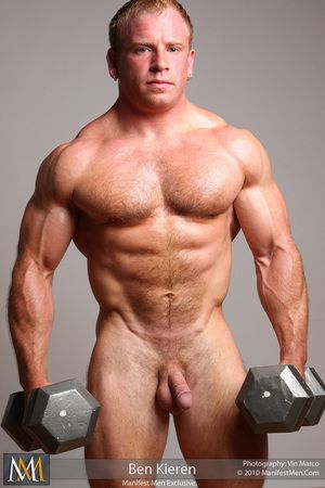 Chunky Hairy Muscle Girder Ben Kieren is oiled up added to disconcert hard.