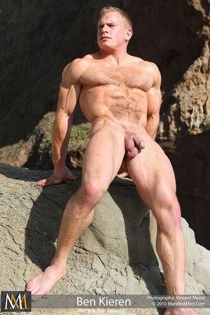 Hairy Blonde Muscle. Ben Kieren Hairy Muscle Stud