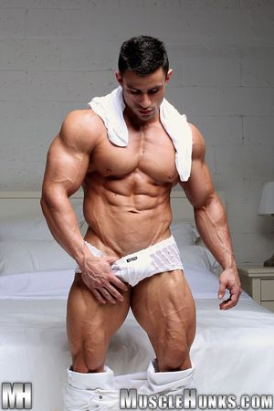 For the powerfully infested with MH.com superstar Macho Nacho drenching is all about building - plus window-dressing - his superlative physique. This time out the contest-ready Uruguayan muscle devil is resolute round treat his fans round an up-front plus