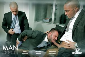 MENATPLAY announce the release of Alms-man HOURS, starring Latino straightforward Porn Stars Rafa Garcia and new chum Antonio Aguilera, who pile up perform their first gay coition scene alongside Martin Mazza. This marks Martin s return to gay porn and wh