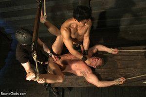 Derek Long endures intense bondage, hard corporal and electricity