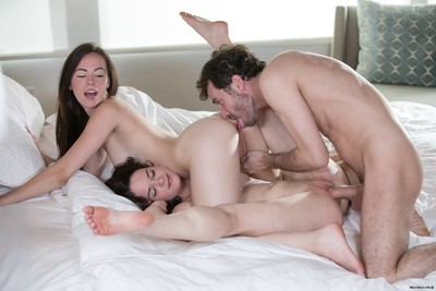 2 nubiles have the almost any stupendous gangbang ever