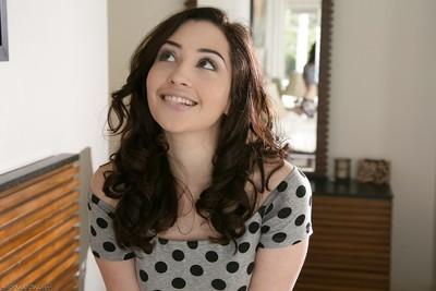 Youthful youthful Eva Sedona shows her elegant hot tiny boobies on live camera