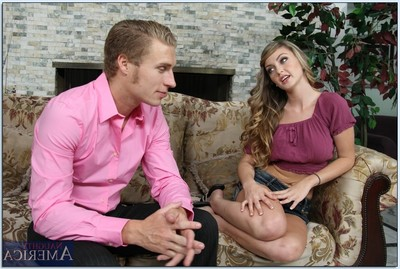 Graceful teen-age darling Staci Silverstone sucks and makes love a stiff prick