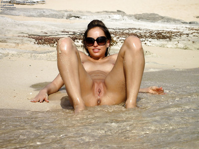 Flexy foot infatuation youthful doll showcasing her hot body outdoor