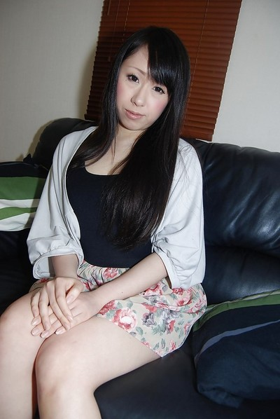 Shy oriental amateur getting undressed and having some love-cage fingering gratification