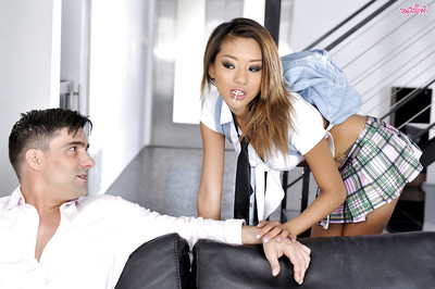 Alina Li is unreal part in a hardcore snatch banging scene with her male