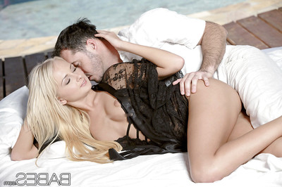 Slippy blondie acquires shagged and jizzed over her tummy and shiny on top pubis