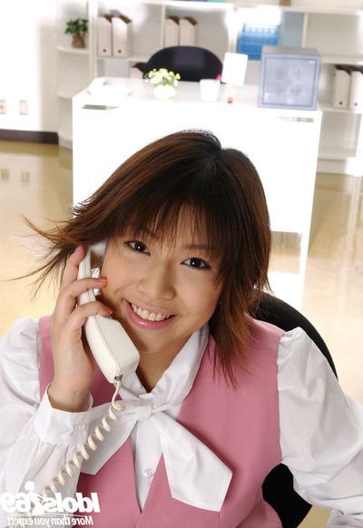 Seductive Japanese office sweet Mai Haruna striptease off her