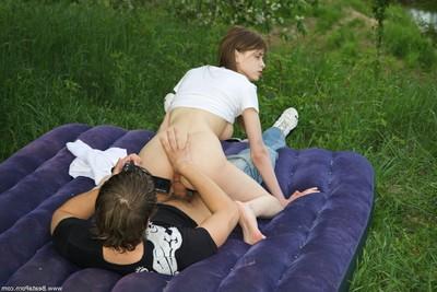 Sticky picnic on the grass