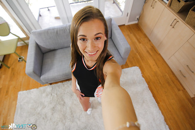 Slender Kacy Lane takes off her tight dress and shows her anal opening
