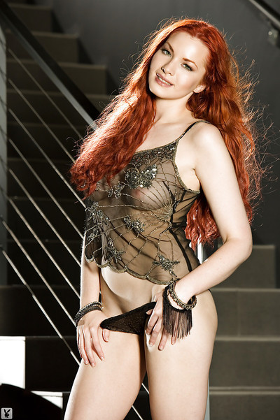 Rounded redhead coed Kinsey Elizabeth slipping off her dominant and underwear