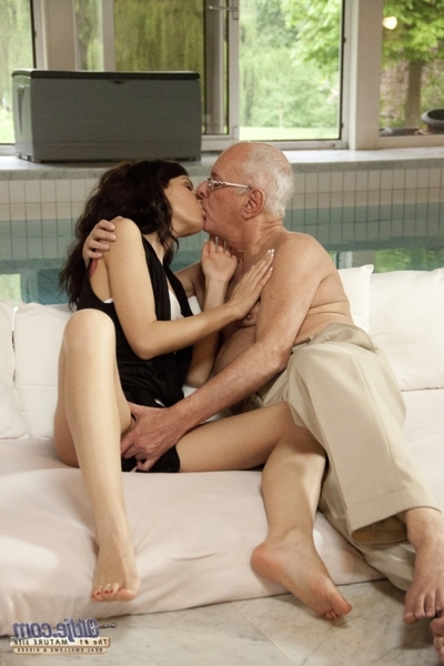 This old gentleman is becoming larger amount and larger amount lustful as the freshman swirls her fuckable butt in stomach of him. This queen looks as if untouchable, but this one has a little secret: that queen favors old schlongs in her firm ass! Spot