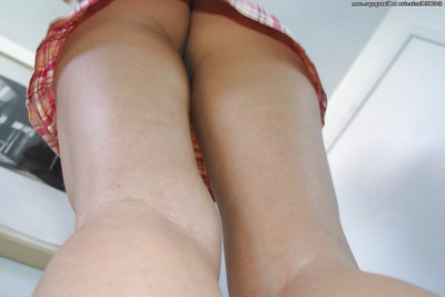 Sweet amateur dear Orchibea stretching her mean fur pie for cam