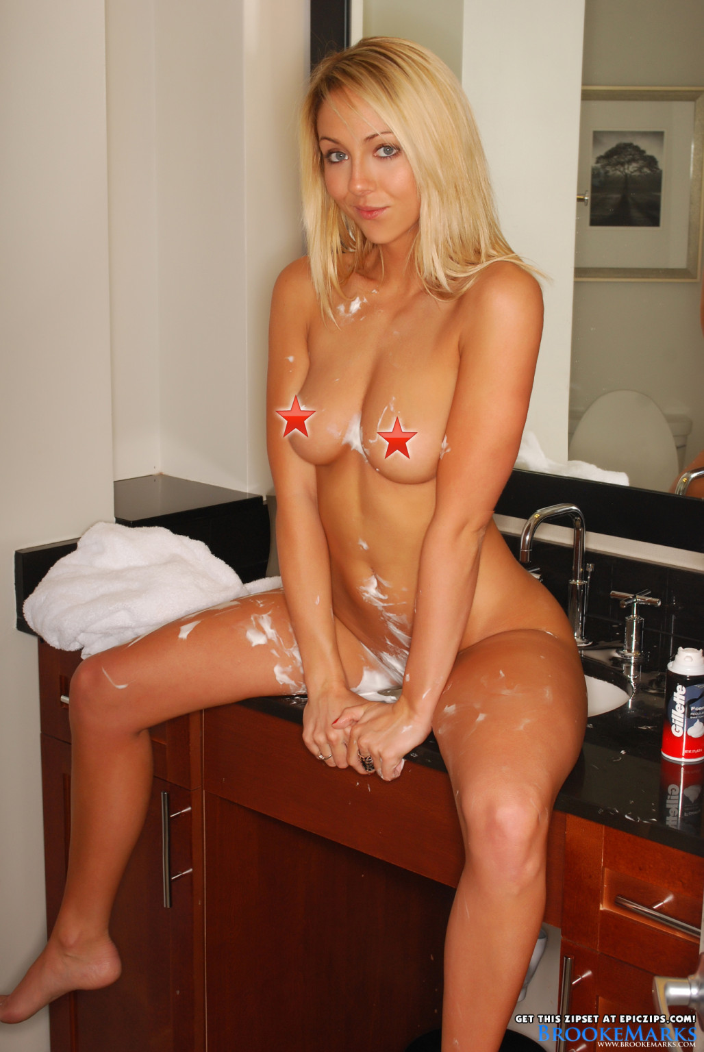 Brooke marks shaves the kitty