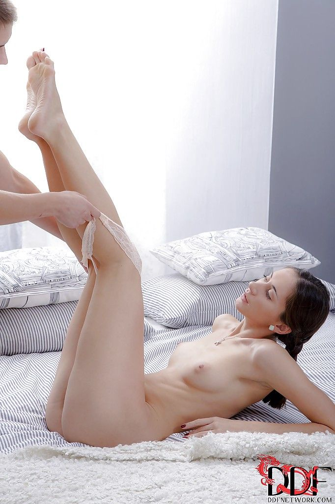 Frolic european amateur receives her trimmed snatch slammed and glazed with cock cream