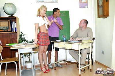 Lusty schoolgirl Michaela S discovers banging satisfaction with her tutor