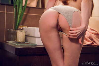 Fiery redhead jia lissa performs an gripping erotic dancing in the bath - part 215