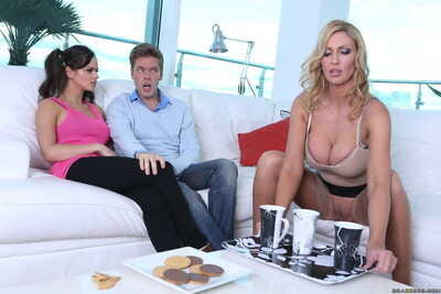 Leigh Darby attains to dig her daughters boo and make him cum.