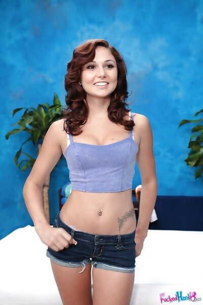 Slight dark brown juvenile Ariana Marie stripped off to flaunt intense Fresh body