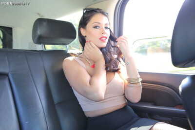 Pretty bitch Ava Dalush is accosted outside and submits to hard love making act