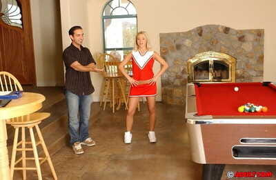 Concupiscent young attains bonked and tastes some goo at her cheerleader interview