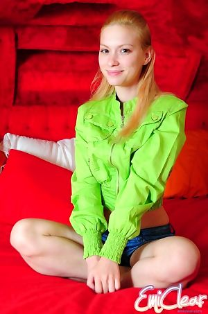 Little juvenile candy pulls her jacket available showing shes got no boob coverer on