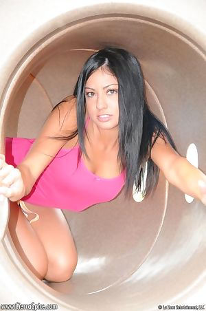 Amateur infant Cierra Spice flaunts her woman passports and bawdy cleft on playground