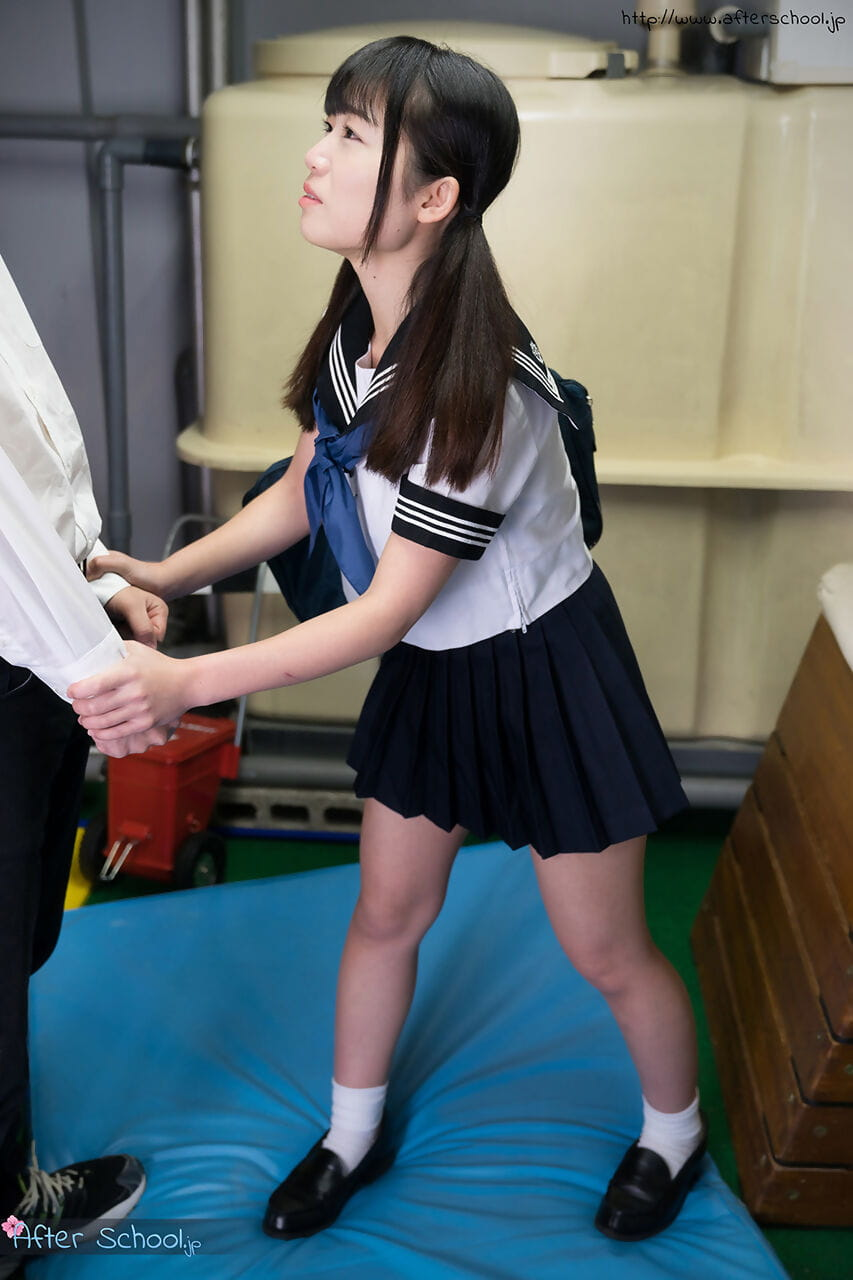 Japanese school princess sucks the ball batter from a snake during the time that jerking off