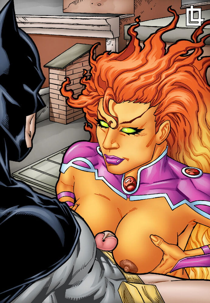 Leandro- Batman and Starfire Have Hot Fuck