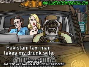 Illustratedinterracial- Pakastani Taxi Man