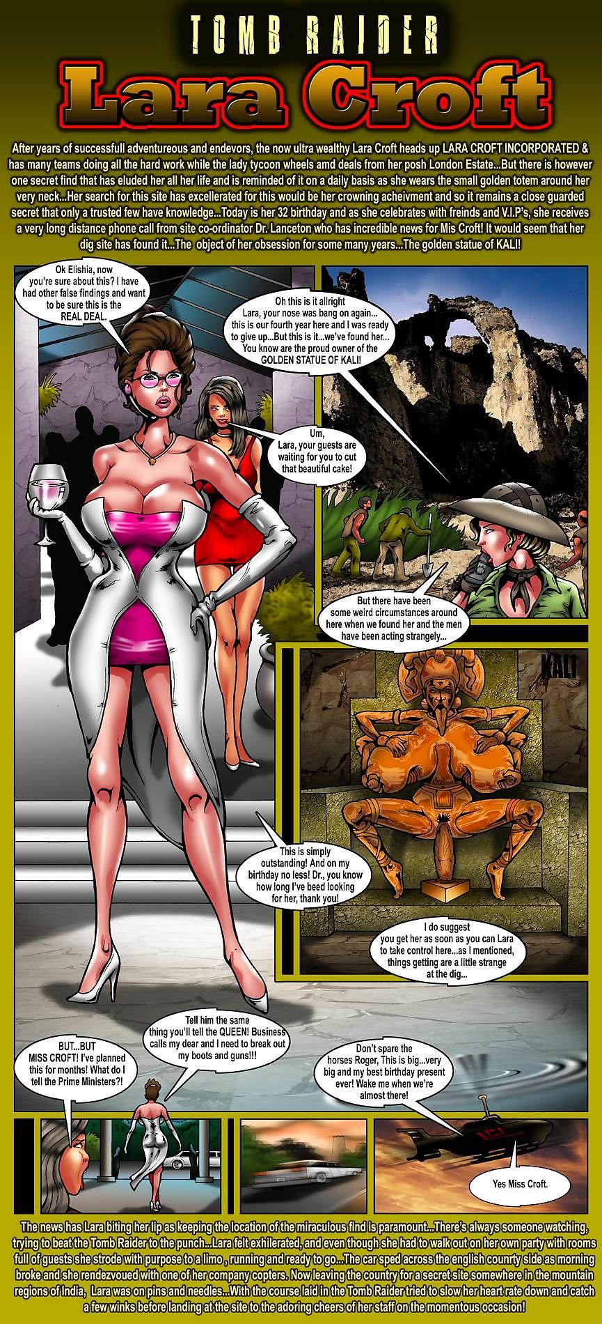 Catacomb Raider- Lara Croft,Smudge