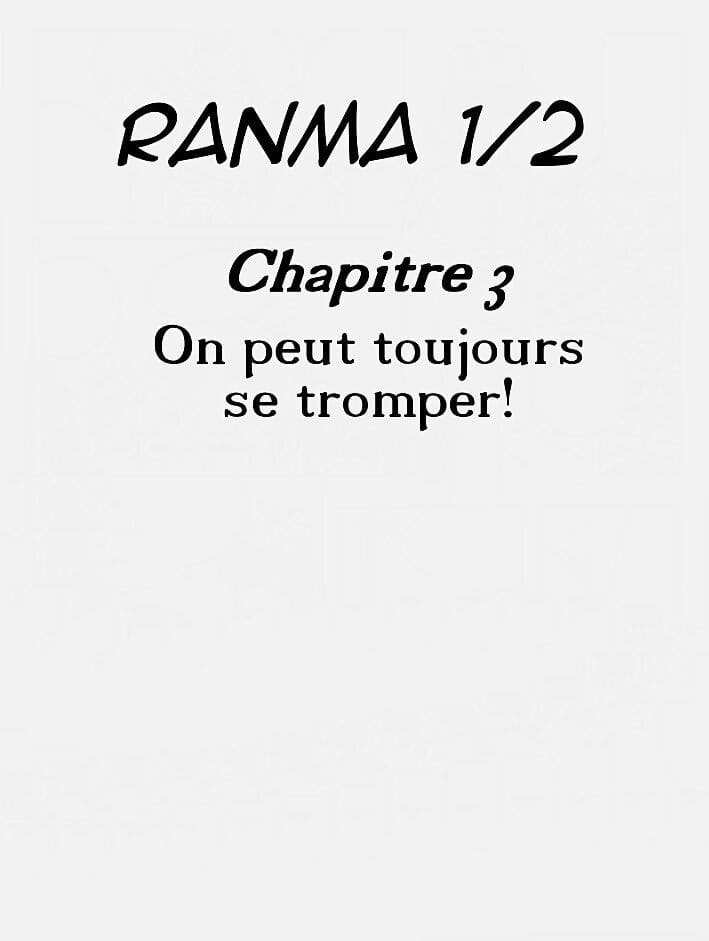 Propositions Be passed on Pay-off Alternate Ranma 1/2 French - loyalty 2