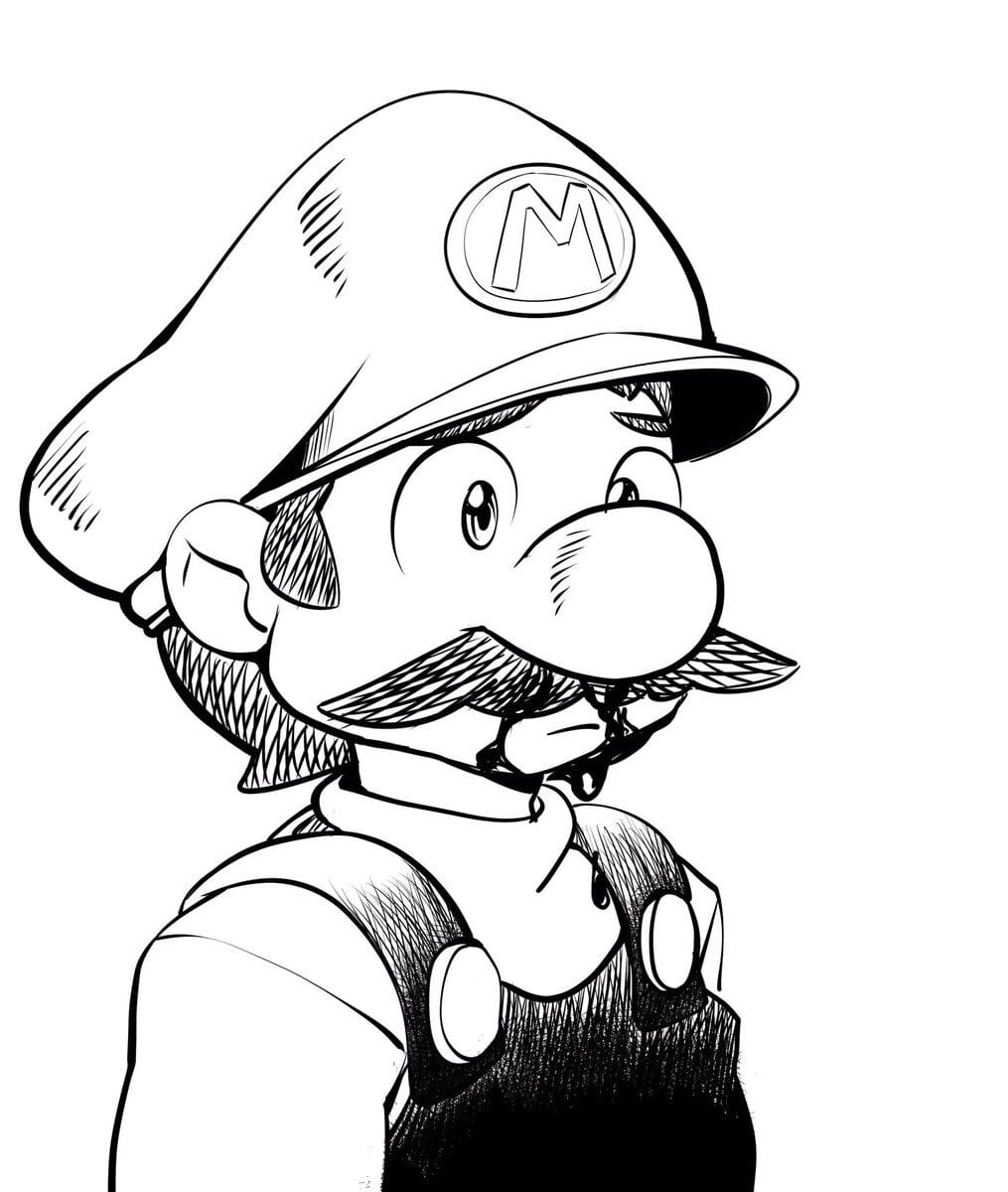 Honcho Mario Inktober - fixing 4