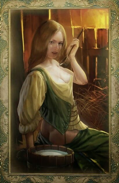 Mating CARDS - Get under one\'s WITCHER