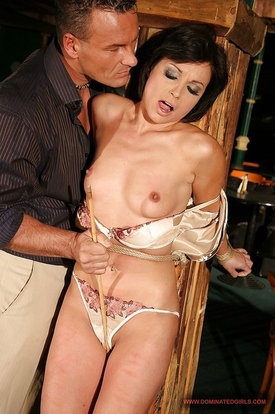 Moist MILF Szilvia Lauren accepts roughly tortured and group-fucked hardcore