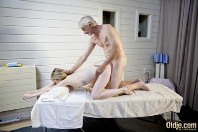 Infant Vladlena acquires to take part in her nasty imaginations in a sexy act of love massage session with fluky old bastard! Her fixed clammy muff gains an experienced old fuck in missionary and doggy-style and a profound old tongue penetration in 69-pos